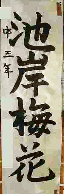 『Mさん。平成24年 栃木県書写展塩谷地区展 銅賞』