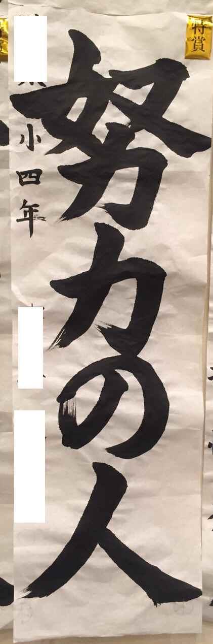 第67回書初宇河地区展 Nちゃん特賞